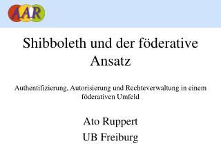 Shibboleth und der föderative Ansatz