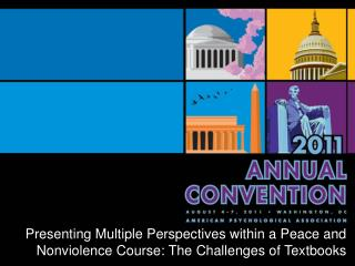 Multiple Perspectives within a  Peace and Nonviolence Course