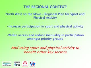THE REGIONAL CONTEXT!