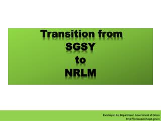 Transition from SGSY to NRLM