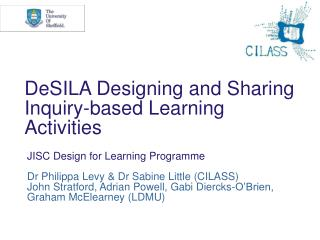DeSILA Designing and Sharing Inquiry-based Learning Activities