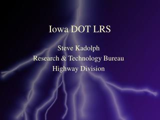 Iowa DOT LRS