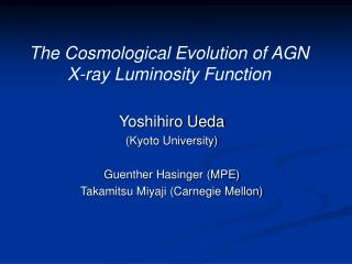 The Cosmological Evolution of AGN  X-ray Luminosity Function