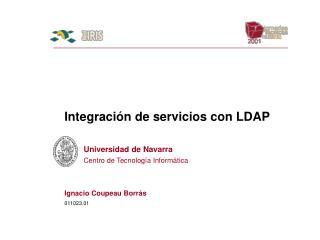 Integración de servicios con LDAP