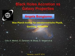Black Holes Accretion  vs Galaxy Properties