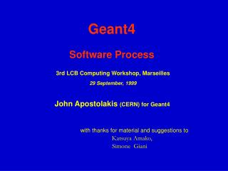 Geant4 Software Process