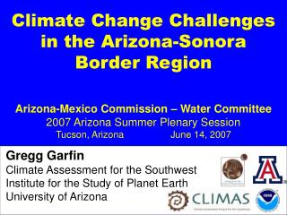 Climate Change Challenges in the Arizona-Sonora Border Region