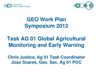 Scope of Task AG-01 (from 12-15 Workplan  rev2 )