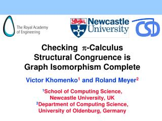 Checking  - Calculus Structural Congruence is Graph Isomorphism Complete