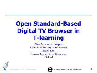 Open Standard-Based Digital TV Browser in  T-learning