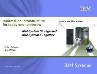 Information Infrastructure for today and tomorrow