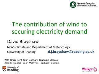 The contribution of wind to securing electricity demand