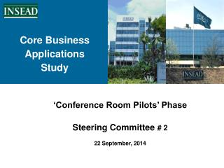 'Conference Room Pilots' Phase Steering Committee  # 2 22 September, 2014