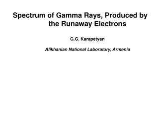 Theory of relativistic runaway electron avalanche (RREA) [3]