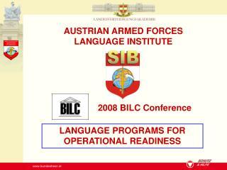 2008 BILC Conference
