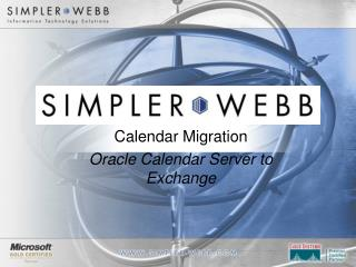 Calendar Migration Oracle Calendar Server to Exchange