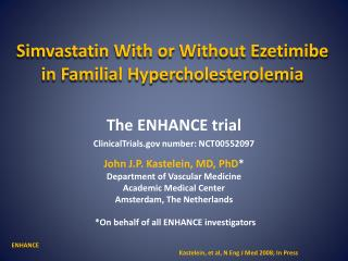 Simvastatin  With or Without  Ezetimibe  in Familial Hypercholesterolemia