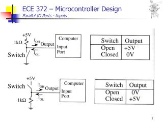 ECE 372 – Microcontroller Design Parallel IO Ports - Inputs