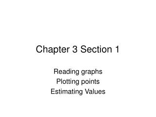 Sections 3.1 ppt