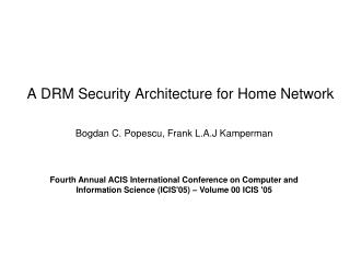 A DRM Security Architecture for Home Network