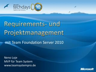 Requirements - und  Projektmanagement
