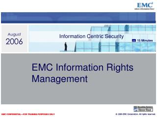 EMC Information Rights Management