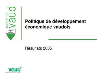 Politique de développement économique vaudois
