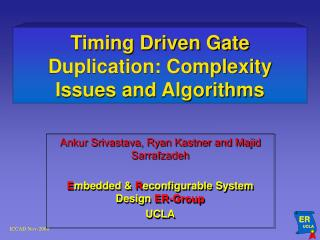 Timing Driven Gate Duplication: Complexity Issues and Algorithms