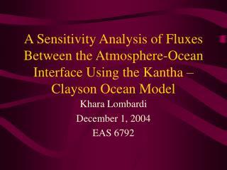 Khara Lombardi December 1, 2004 EAS 6792
