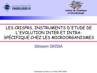 Soutenance de thèse, le 24 Juin 2008, IGM