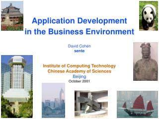 Application Development in the Business Environment David Cohen sente