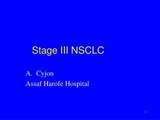 Stage III NSCLC