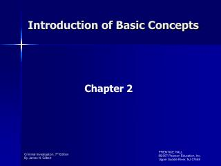 Introduction of Basic Concepts