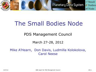 The Small Bodies Node
