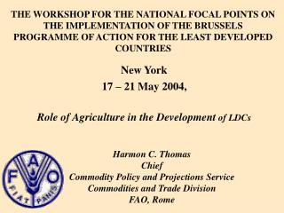Role of Agriculture in the Development  of LDCs