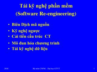 T�i k? ngh? ph?n m?m (Software Re-engineering)