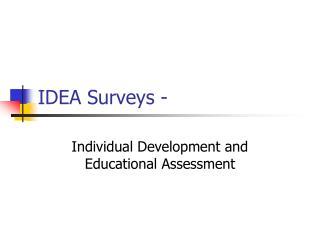 IDEA Surveys -