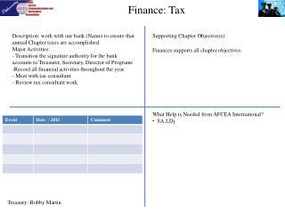 Finance: Tax