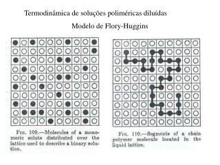 Termodinâmica de soluções poliméricas diluídas
