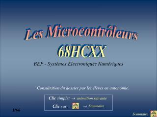 Les Microcontrôleurs 68HCXX