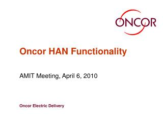 Oncor HAN Functionality