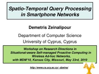 Spatio-Temporal Query Processing in Smartphone Networks