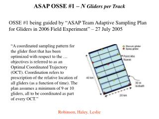 ASAP OSSE #1 –  N  Gliders per Track