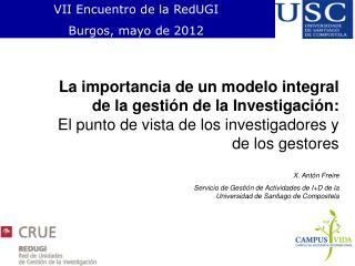 VII Encuentro de la RedUGI Burgos, mayo de 2012