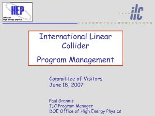 International Linear Collider Program Management