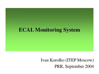 ECAL Monitoring System