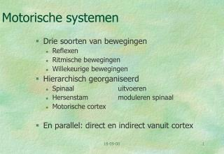 Motorische systemen