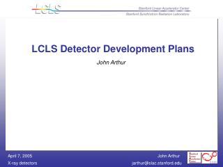 LCLS Detector Development Plans