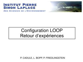 Configuration LOOP Retour d�exp�riences