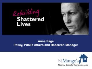 Anna Page Policy, Public Affairs and Research Manager